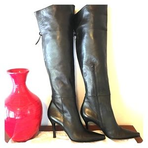 Authentic Stuart Weitzman BLK Nappa Leather Boots